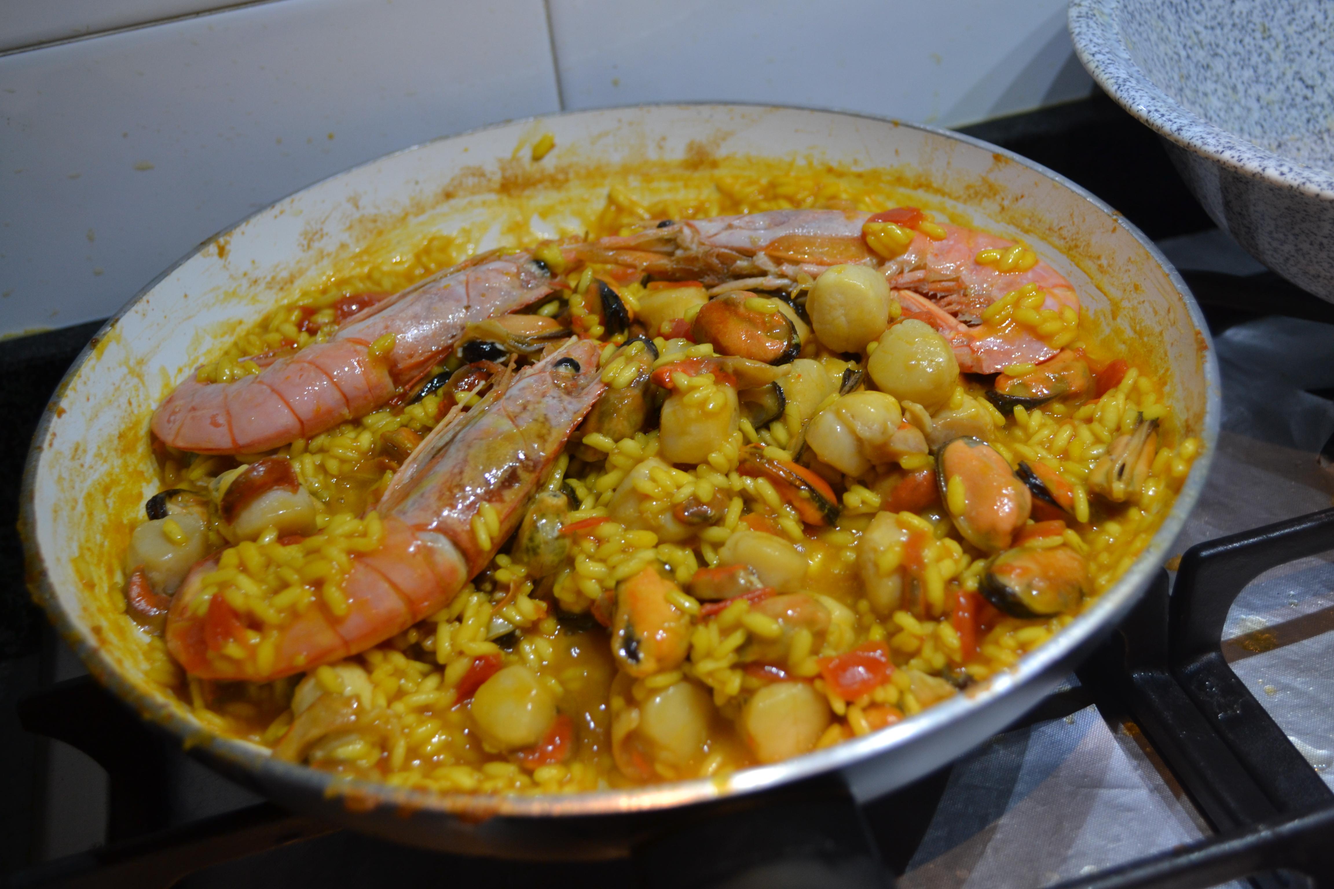 Paella De Marisco Piatto Spagnolo